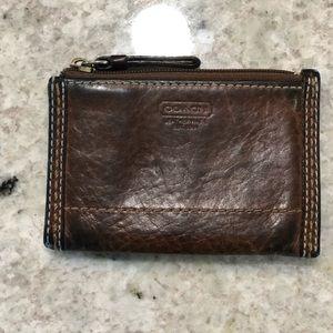 Coach Cognac Leather Wallet